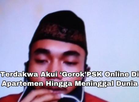 Terdakwa Akui 'Gorok'PSK Online Di Apartemen Hingga Meninggal Dunia