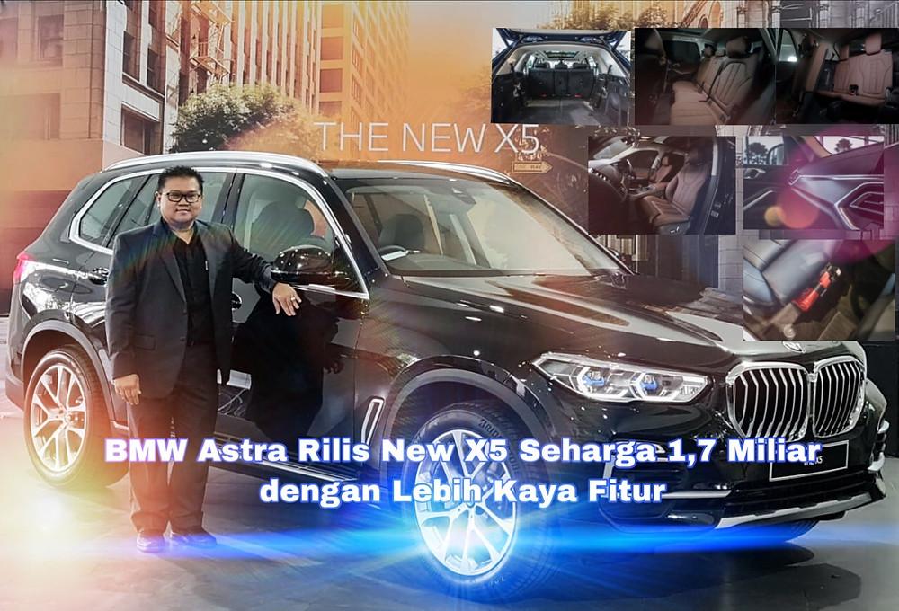 Yopy Antonio Kepala Cabang BMW Astra Surabaya pada peluncuran New BMW X5