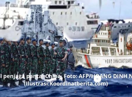 Kapal China Masih Bertahan di Laut Natuna, TNI: Senin, Gerakkan KRI Lagi untuk Usir Kapal-kapal Itu!