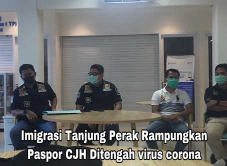 Imigrasi Tanjung Perak Rampungkan Paspor CJH Ditengah virus corona