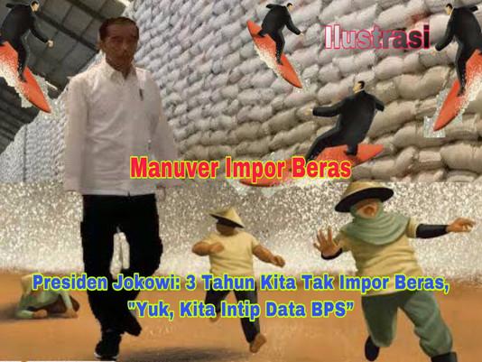 Manuver Impor Beras, Presiden Jokowi: 3 Tahun Kita Tak Impor Beras