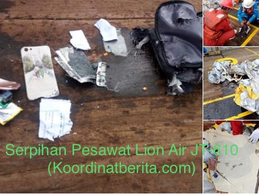 Lion Air JT-610 Jatuh Di Koordinat 05 derajat 49.727S-107 derajat 07.460 E, Timur Laut