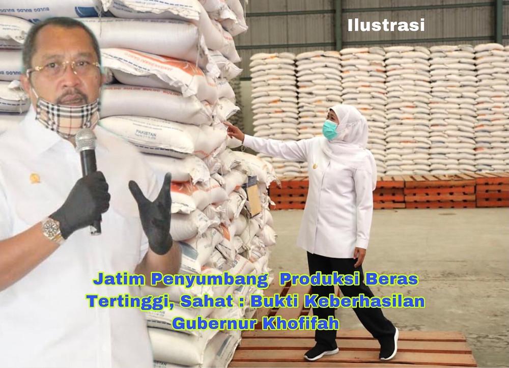 Jatim sebagai propinsi yang nomor satu  di Indonesia dalam produksi beras, kata politisi asal Partai Golkar ini, gubernur Khofifah turun langsung ke lapangan untuk turun langsung memantau bagaimana proses menanam padi hingga panen terjadi.
