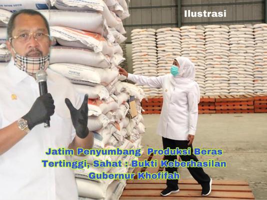 Jatim Penyumbang  Produksi Beras Tertinggi, Sahat : Bukti Keberhasilan Gubernur Khofifah