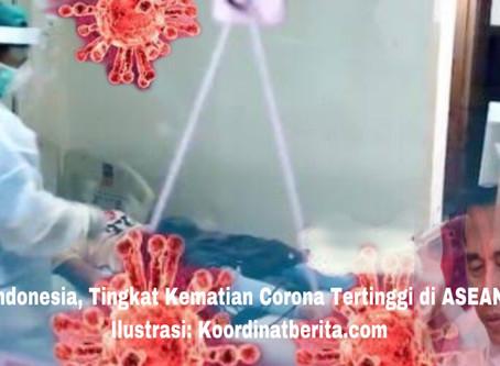Indonesia, Tingkat Kematian Corona Tertinggi di ASEAN