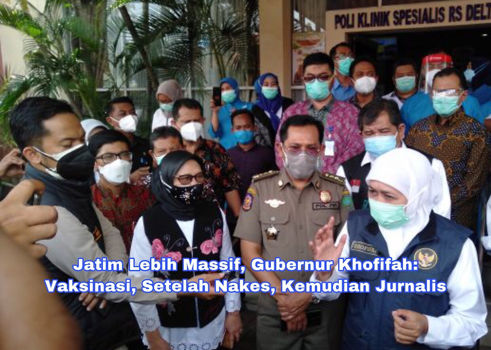 Gubernur Khofifah memberikan keterangan pers, di RS Delta Surya Sidoarjo
