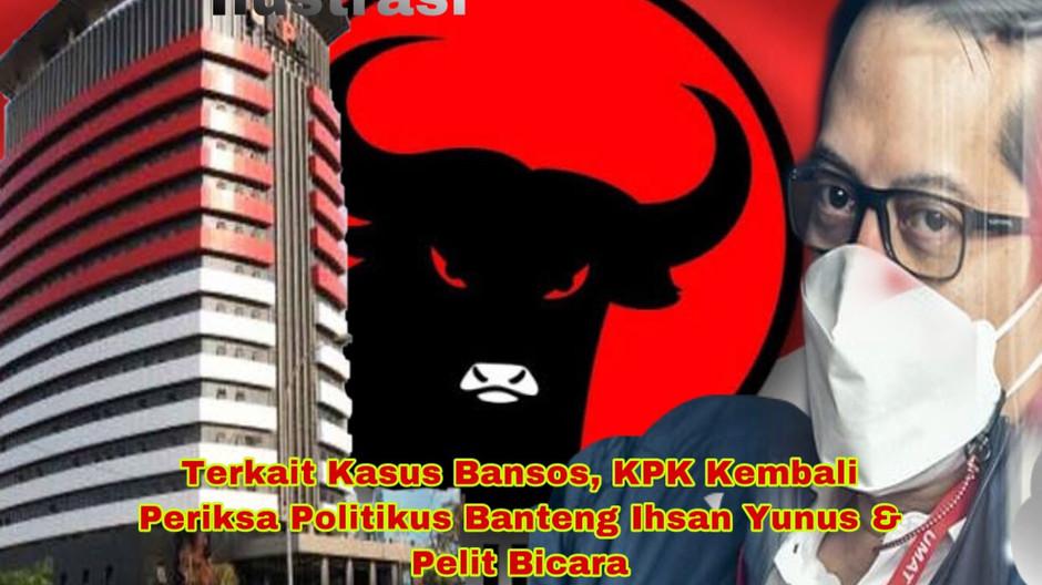 Terkait Kasus Bansos, KPK Kembali Periksa Politikus Banteng Ihsan Yunus & Pelit Bicara