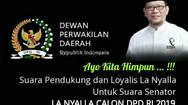 La Nyalla Ditetapkan Dalam DCS,  Ayo Dukung Sebagai Anggota DPD - RI 2019