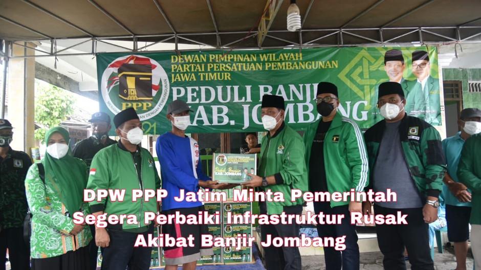 DPW PPP Jatim Minta Pemerintah Segera Perbaiki Infrastruktur Rusak Akibat Banjir Jombang