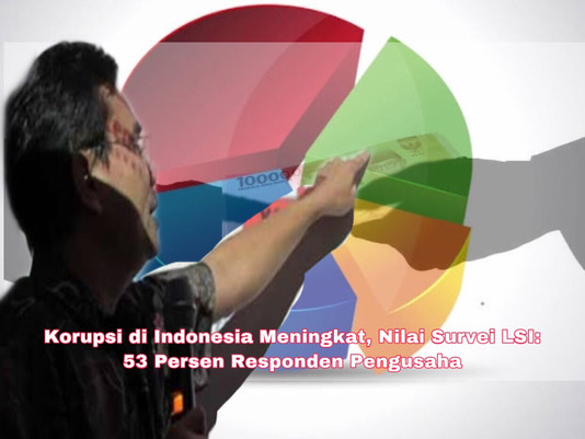 Korupsi di Indonesia Meningkat, Nilai Survei LSI: 53 Persen Responden Pengusaha