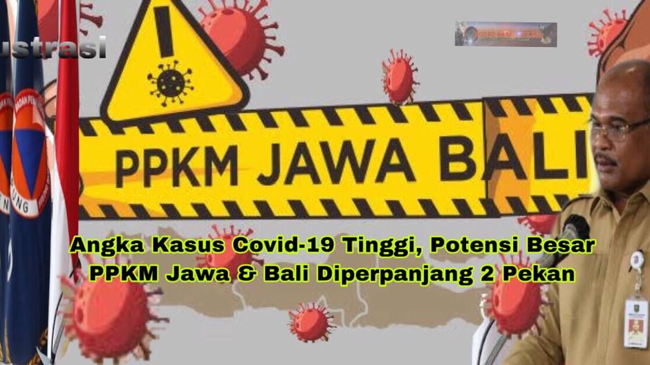 Angka Kasus Covid-19 Tinggi, Potensi Besar PPKM Jawa & Bali Diperpanjang 2 Pekan