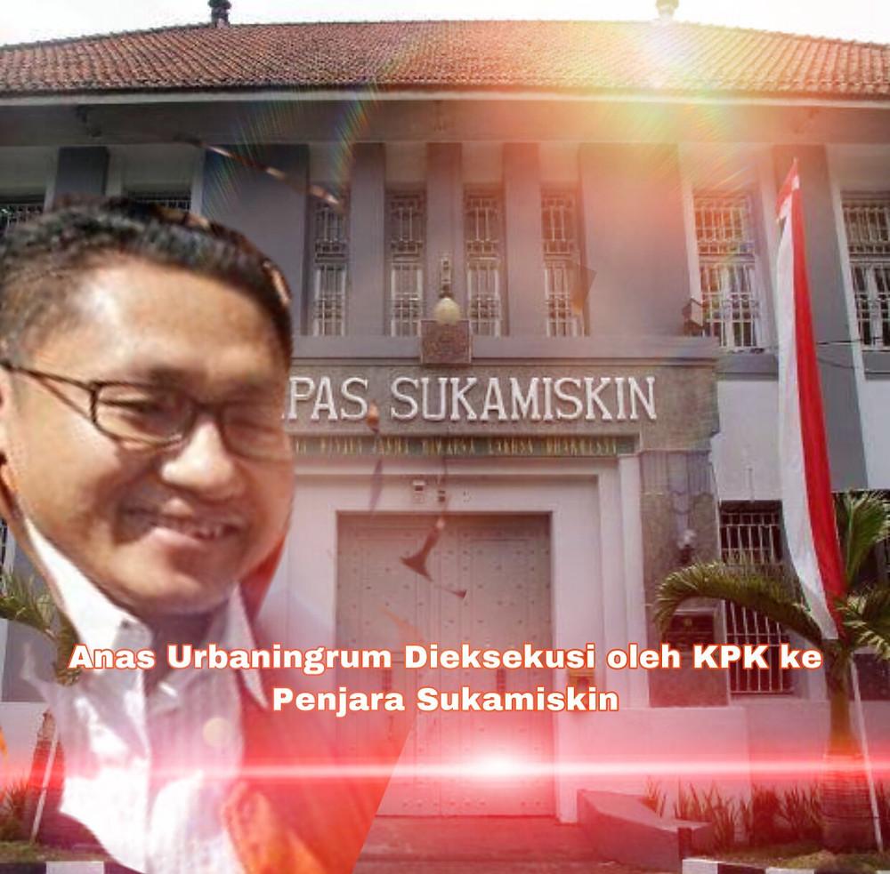 Anas Urbaningrum akan menjalani pidana penjara selama 8 tahun dikurangi selama di tahanan, serta denda Rp 300 juta subsider 3 bulan.