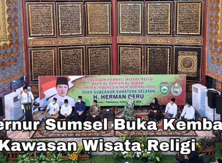 Gubernur Sumsel Buka Kembali Kawasan Wisata Religi