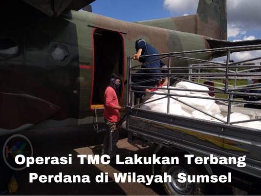 Operasi TMC Lakukan Terbang Perdana di Wilayah Sumsel