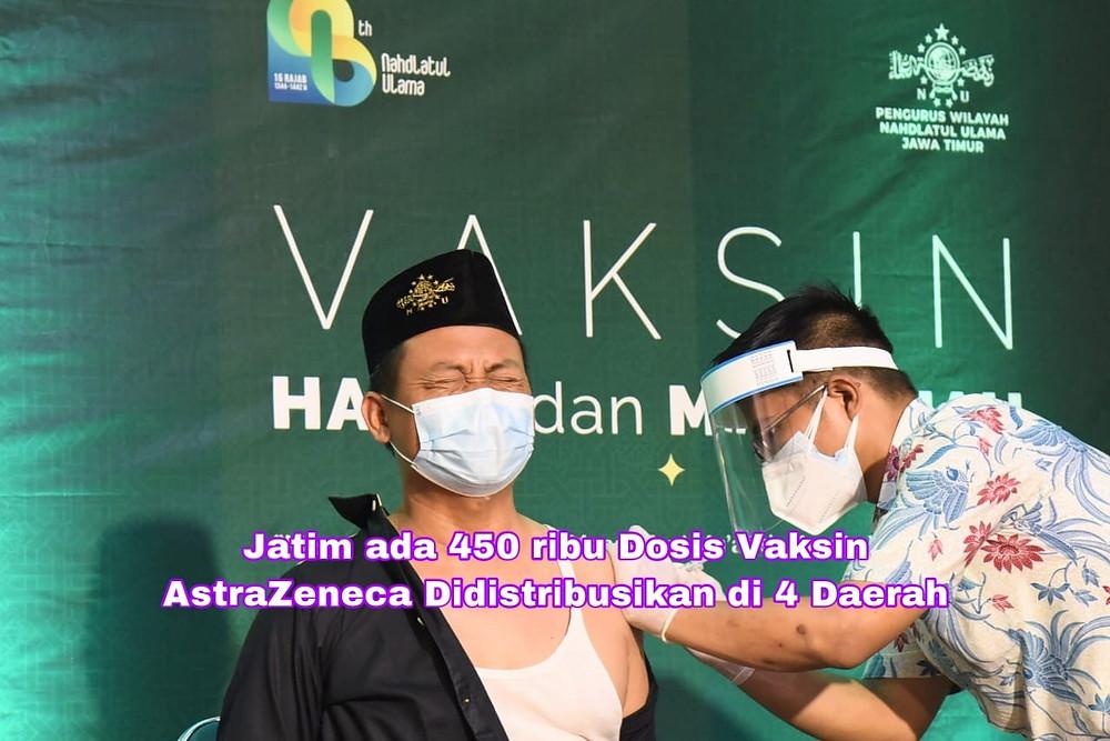 Tercatat, sebanyak 573.497 pelayan publik telah divaksinasi di Jatim. Sedangkan secara keseluruhan sudah ada 1.3 juta penduduk Jawa Timur yang telah divaksinasi.  (Foto: Ayul)