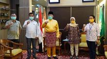 Gubernur HD Mengajak Media Beri Pendidikan  Masyarakat Terkait Covid-19