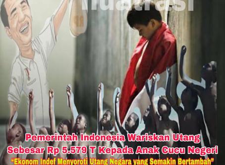 Pemerintah Indonesia Wariskan Utang Sebesar Rp 5.579 T Kepada Anak Cucu Negeri