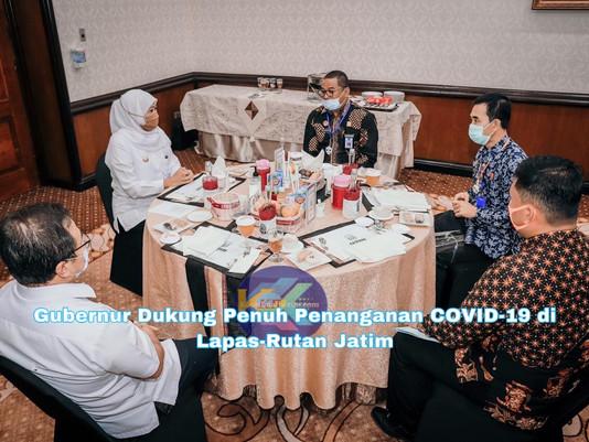 Gubernur Dukung Penuh Penanganan COVID-19 di Lapas-Rutan Jatim