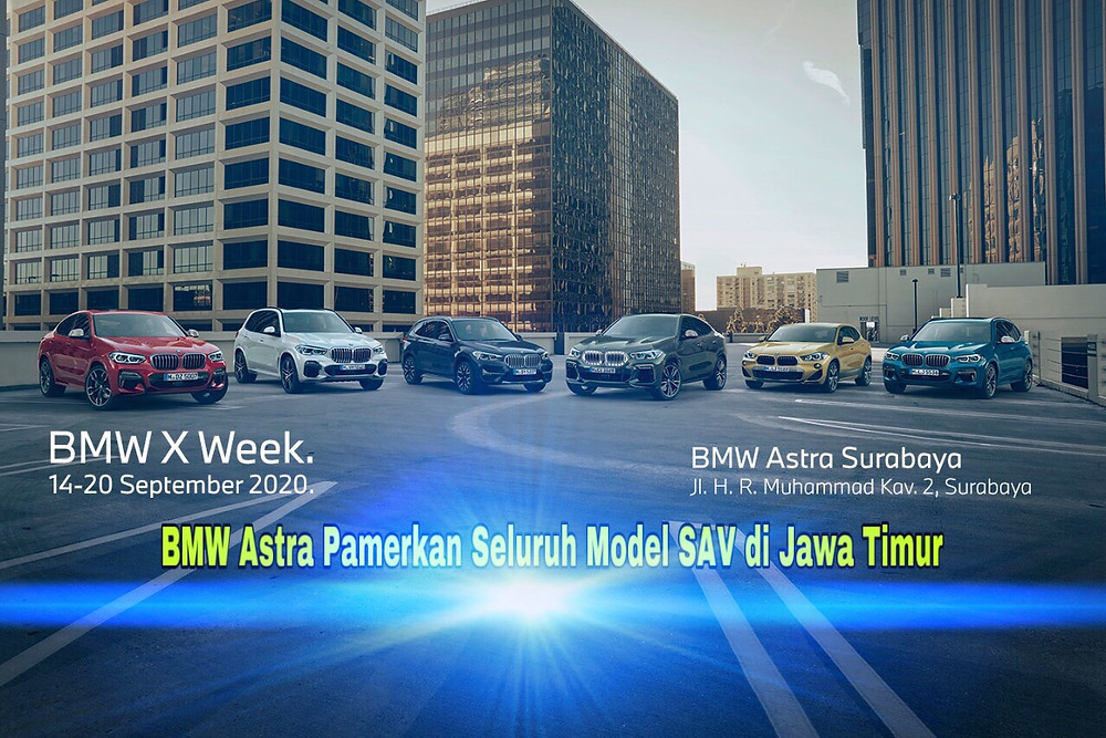 Jajaran BMW X yang dipamerkan secara lengkap di BMW Astra Surabaya