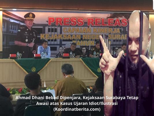 Ahmad Dhani Bebas dari penjara, Kejaksaan Surabaya Tetap Awasi atas Kasus Ujaran Idiot