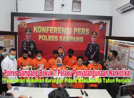 Polres Sampang Bekuk 7 Pelaku Penyalahgunaan Narkotika