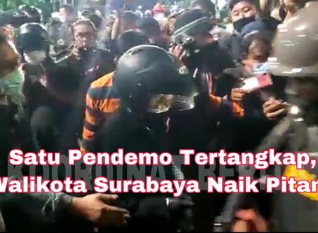 Buntut UU Ciptaker, Satu Pendemo Tertangkap, Walikota Surabaya Naik Pitam