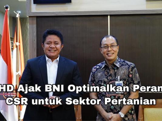 HD Ajak BNI Optimalkan Peran CSR untuk Sektor Pertanian