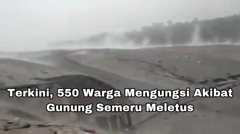 Awan panas guguran dari Gunung api Semeru berjarak luncur hingga 2.000 meter ke arah Besuk Koboan.