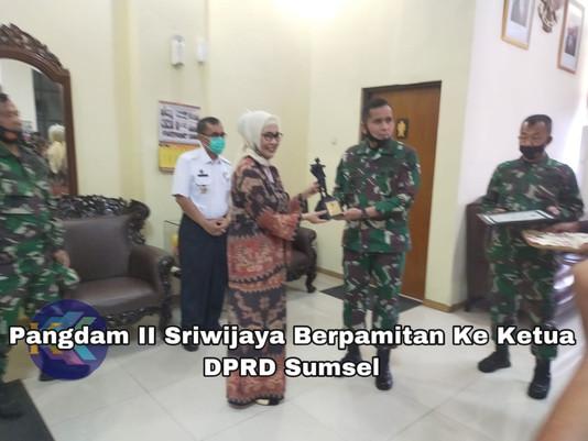 Pangdam II Sriwijaya Berpamitan Ke Ketua DPRD Sumsel