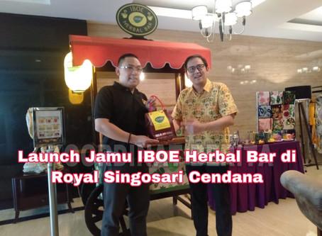 Launch Jamu IBOE Herbal Bar di Royal Singosari Cendana