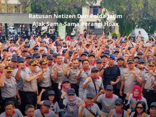 Ratusan Netizen Dan Polda Jatim Ajak Sama-Sama Perangi Hoax