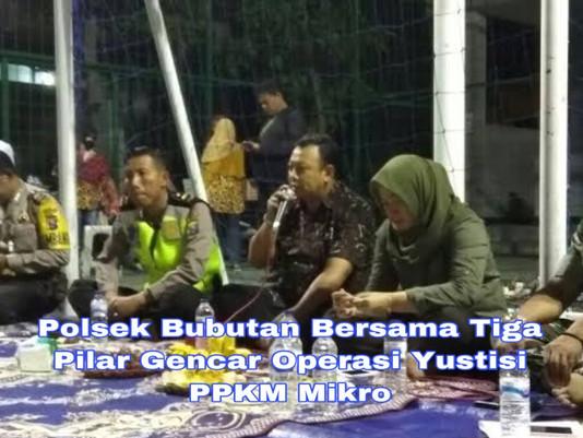 Polsek Bubutan Bersama Tiga Pilar Gencar Operasi Yustisi PPKM Mikro