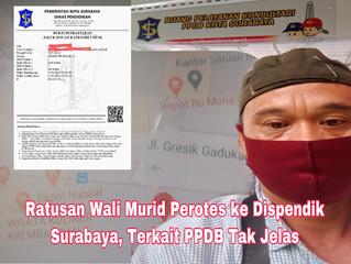 Ratusan Wali Murid Perotes ke Dispendik Surabaya, Terkait PPDB Tidak Jelas