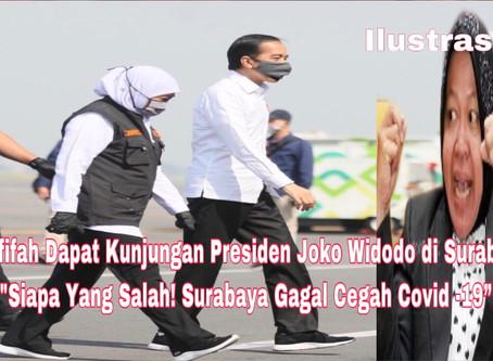 Khofifah Dapat Kunjungan Presiden Joko Widodo di Surabaya
