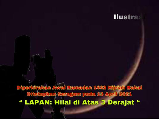 Diperkirakan Awal Ramadan 1442 Hijriah Bakal Ditetapkan Seragam pada 13 April 2021