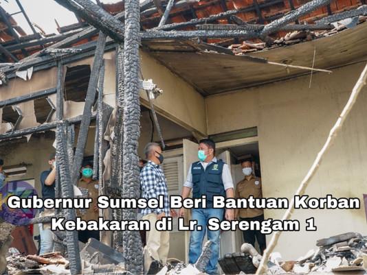 Gubernur Sumsel Beri Bantuan Korban Kebakaran di Lr. Serengam 1