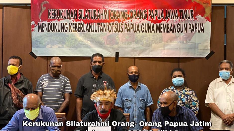 Kerukunan Silaturahmi Orang- Orang Papua Jatim Dukung Pelaksanaan OTSUS Jilid Dua