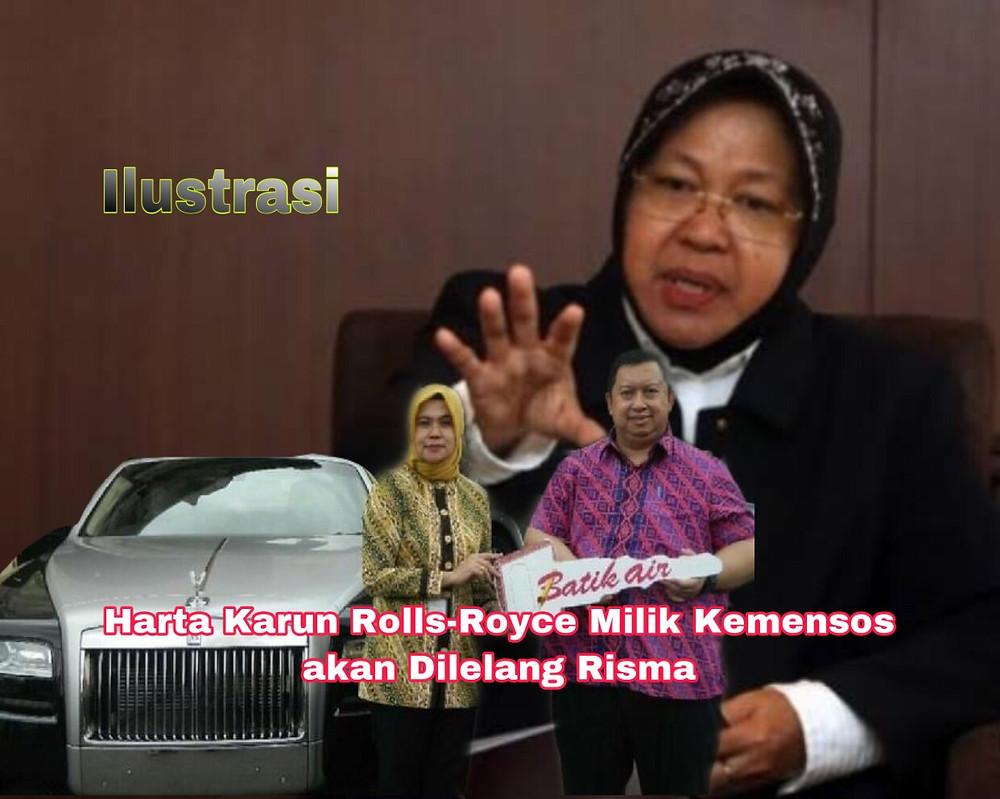 Risma mengetahui informasi keberadaan mobil itu dan dua mobil Mercedes Benz dari Sekretaris Jenderal Kementerian Sosial Hartono Laras.