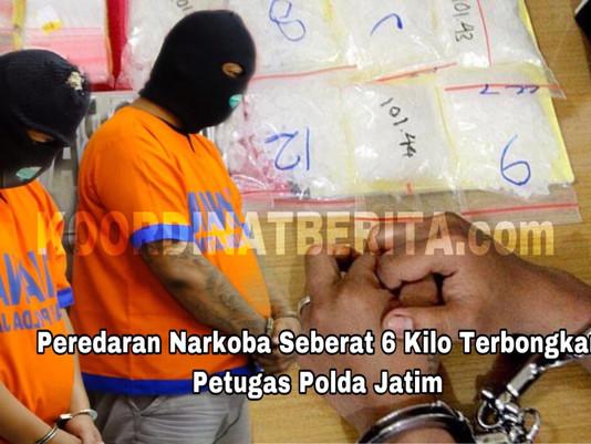 Peredaran Narkoba Seberat 6 Kilo Terbongkar Petugas Polda Jatim