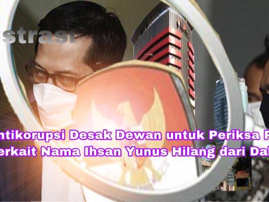 Pegiat Antikorupsi Desak Dewan untuk Periksa Pimpinan KPK Terkait Ihsan Yunus Hilang dari Dakwaan