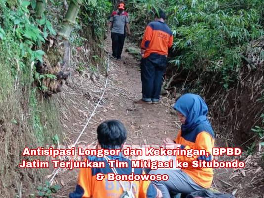 Antisipasi Longsor dan Kekeringan, BPBD Jatim Turunkan Tim Mitigasi ke Situbondo & Bondowoso