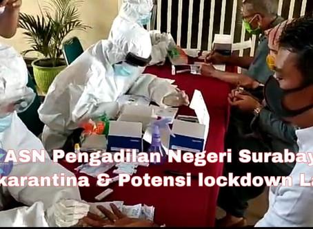 9 ASN Pengadilan Negeri Surabaya Dikarantina & Potensi lockdown Lagi!