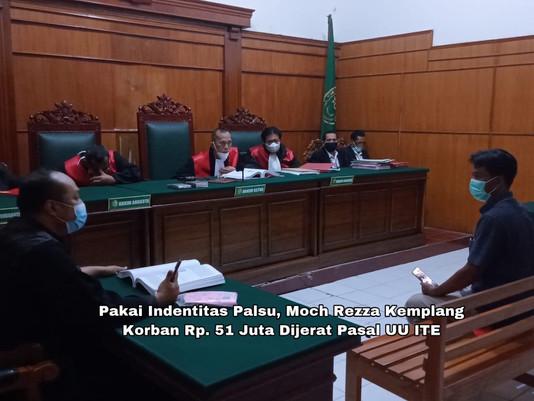 Pakai Indentitas Palsu, Moch Rezza Kemplang Korban Rp. 51 Juta Dijerat Pasal UU ITE