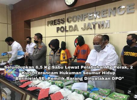 Selundupkan 6,5 Kg Sabu Lewat Pelabuhan Tg Perak, 2 Kurir Terancam Hukuman Seumur Hidup