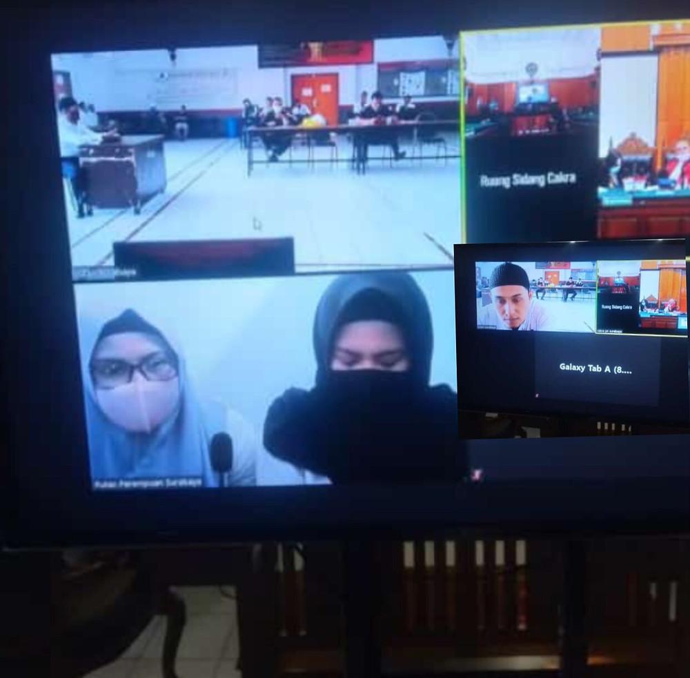 Kakak beradik Zainab Achmad dan Indah Pratiwi Kedapatan Bawa Sabu 8,1, Kakak Beradik asal Batam Dituntut Pidana Seumur Hidup