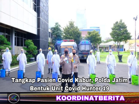 Pasien Covid Kabur, Polda Jatim Bentuk Unit Covid Hunter 19