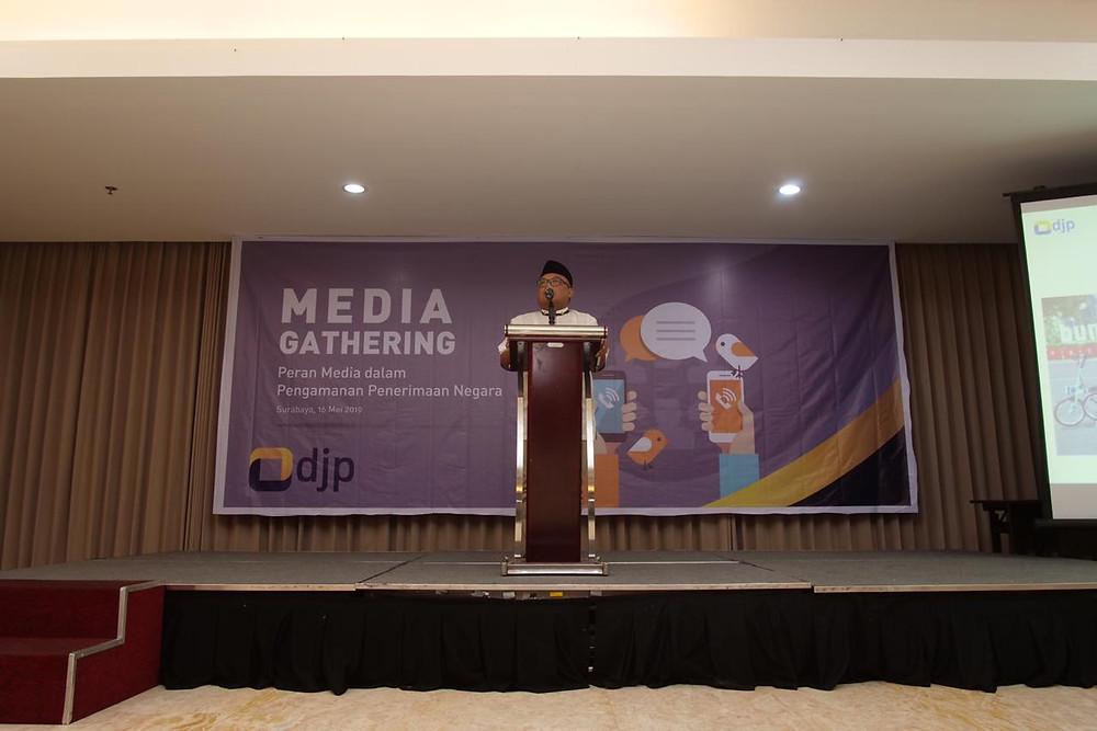 Kepala Kanwil DJP Jatim I, Eka Sila Kusna Jaya, Kamis (16/5/2019).
