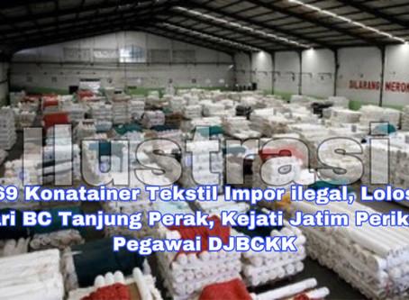 Impor 69 Konatainer Tekstil ilegal Lolos dari BC Tanjung Perak, Kejati Jatim Periksa Pegawai DJBCKK