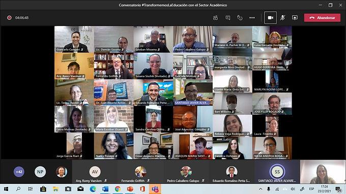Referentes académicos discutieron sobre educación en un conversatorio virtual