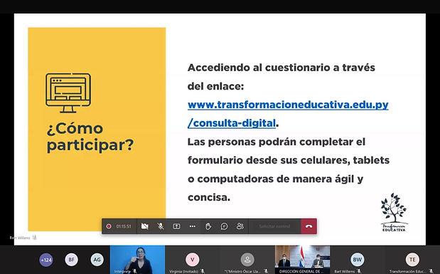Lanzaron Consulta Digital para promover la Transformación Educativa del Paraguay